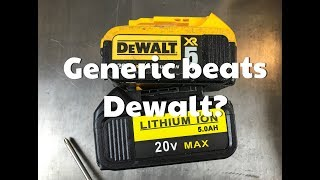 Generic Dewalt battery from Amazon vs Genuine Dewalt 20v Lithium battery