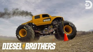 How Fast Can the BroDozer Go? | Diesel Brothers: Monster Jump LIVE