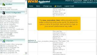 How to configure PHP from within WHM