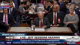 FULL HEARING: Sessions Testifies About Russia, Comey Firing at Senate Intel Committee Hearing (FNN)