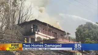 Fire In East San Jose Hills Damages Two Homes