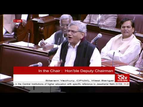 Sh. Sitaram Yechury initiating a discussion on the situation arising in JNU and HCU