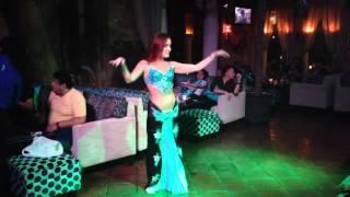 Surprise belly dance performance at Shisha Cafe Kemang