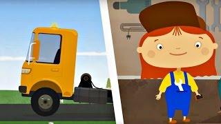 Cars and trucks for kids. Car doctor & a tow truck.