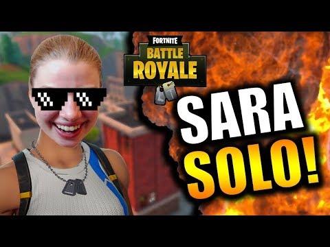 SARAS REISE TIL FØRSTE SOLO WIN!?🔥 | Norsk Fortnite