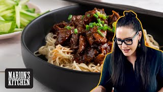 Chinese Sticky Beef Noodles - Marion's Kitchen