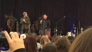Jensen needs his coffee ASAP! Supernatural convention NJ 2016