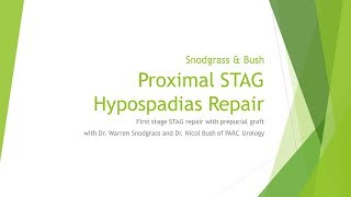 1st stage STAG Repair with Snodgrass & Bush
