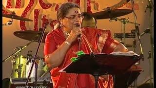 Usha uthup performing at 49th Bengaluru Ganesh Utsava - video 2