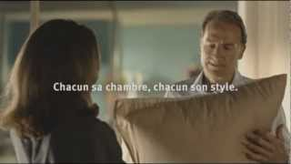 Conforama French pillow fight commercial 2010