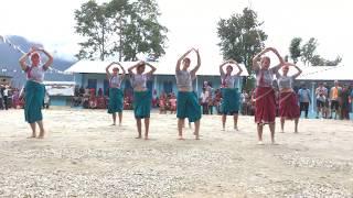 All Hands volunteers performing Nepali dance at Kakaling's handover.
