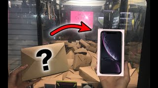 WON iPhone XR from MYSTERY BOX Claw Machine! | JOYSTICK