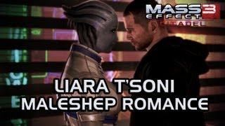 Mass Effect 3 Citadel DLC: Liara & MaleShep Romance (All scenes)