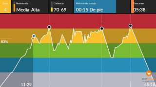 clase ciclo indoor spinning completa 56 interval cycling