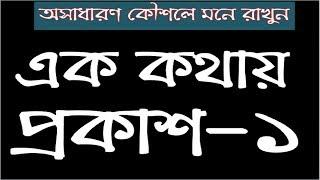 এক কথায় প্রকাশ/বাক্য সংকোচন-১ Ek Kothay Prokash-1