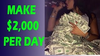 How To Make Money Online Fast 2016 & 2017 - Earn Money Online $2,000 Per Day
