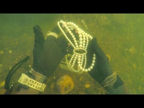 Found Jewelry Underwater in River While Scuba Diving for Lost Valuables Unbelievable