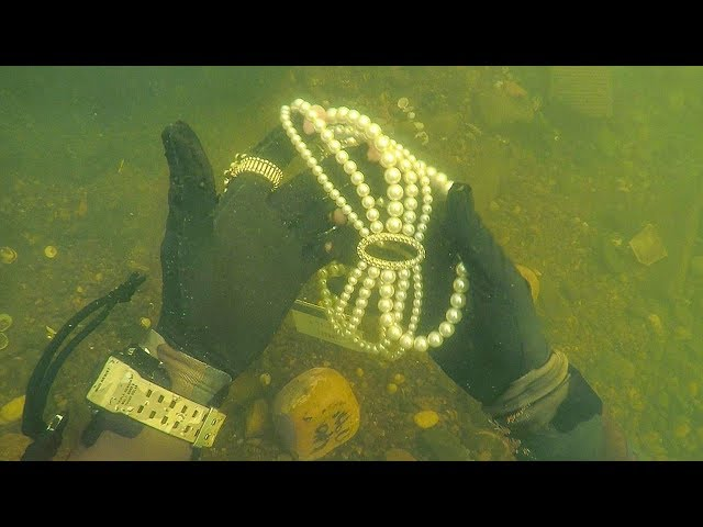 Found Jewelry Underwater in River While Scuba Diving for Lost Valuables! (Unbelievable)
