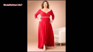 Büyük beden elbise modelleri 2016 - 2017