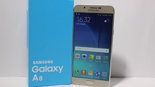 Samsung Galaxy A8 (Gold) India Unboxing & Hands on Overview