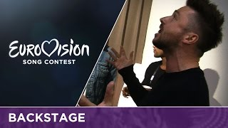 Sergey Lazarev (Russia) rehearses You Are The Only One