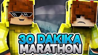 32 DAKİKA EFSANE MARATHON! (Minecraft : Survival Games #497)