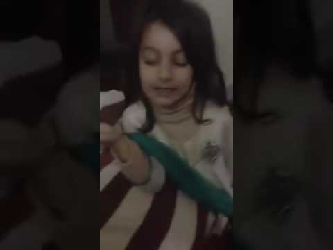 Pakistani cute baby talking  about  guest's