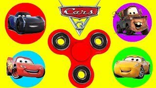 Cars 3 Movie Fastest Fidget Spinners Game with Paw Patrol Skye and Hatchimals