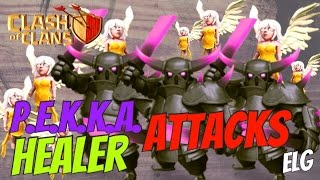 3 Star With P.E.K.K.A. And Healer Attack Strategy Gameplay - Fun Raids - Clash of Clans