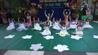 Văn nghệ 20-11 múa chắp cánh ước mơ trường mầm non Hạnh Phúc