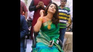 Trisha Gorgeous Look in Green Saree | Kumar Jewellery Opening Celebration Kanyakumari