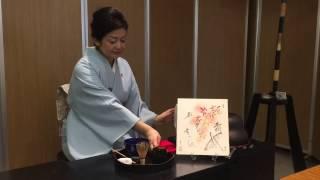 テーブルでする茶道のおもてなし盆略点前(ぼんりゃくてまえ) the way of tea on the table  2