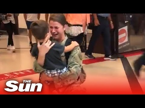 Xxx Mp4 Military Mother Makes Emotional Reunion With Her Child 3gp Sex