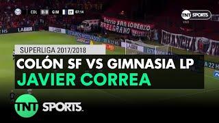 Javier Correa (1-0) Colón SF vs Gimnasia LP | Fecha 16 - Superliga Argentina 2017/20