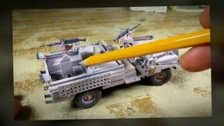 Building Tamiya S.A.S. Land Rover. The Pink Panther. From Start to Finish