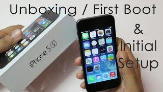 iPhone 5S Unboxing First Boot & Initial Setup