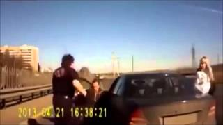 road rage bully gets owned by his victim