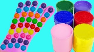 Learn Colors for Kids Body Paint Gum Candy Finger Family Song Rhymes Foot Feet Toes