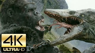 Kong: Skull Island 2017 - All Kong and Creature Scenes | 4K Ultra HD