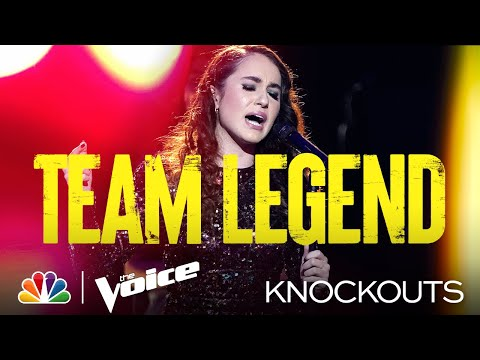 Carolina Rial Sings Demi Lovato s Anyone The Four Way Knockout The Voice Knockouts 2021