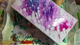 Acrylic Fluid Painting: How to Do a Dirty Pour