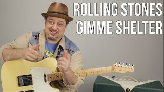 The Rolling Stones - Gimme Shelter - How to Play on Guitar - Lesson, Tutorial