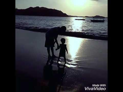 Bikin BAPER BGT!!! Seorang Ayah dan anak perempuannya menikmati indahnya sunset.