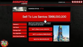 $$$ BIGGEST SELL EVER!!! - GTA 5 GUNRUNNING DLC!!! - MAKING MONEY FAST!!!