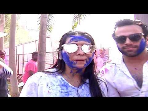 Asha Negi and Ritvik Dhanjani | Box Cricket League Holi Party With Ekta Kapoor