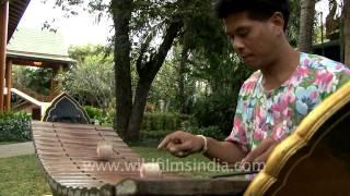 Xylophonist playing at Hua Hin, Thailand