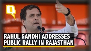 2019 Elections: Rahul Gandhi Addresses a Public Rally in Rajasthan