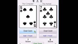 Visual Basic .NET Card Game - WAR - Demonstration