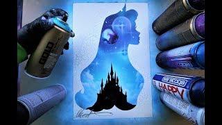 Aurora Sleeping Beauty - SPRAY PAINT ART - by Skech
