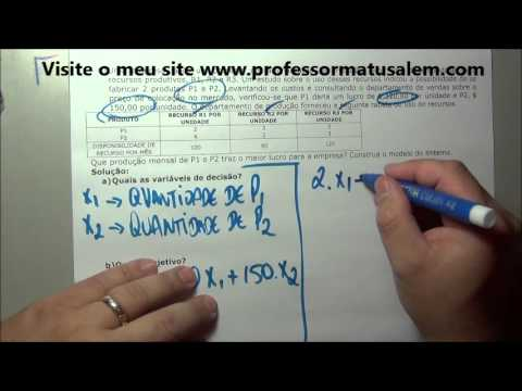 PO   1 modelo de programação linear   exercício resolvido 6